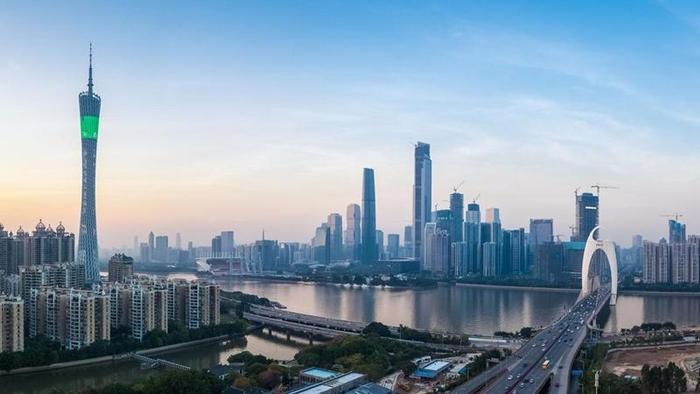<i>ภาพไม่ปรากฏวันที่ แสดงให้เห็นเขตธุรกิจใจกลางนครกว่างโจว เมืองเอกของมณฑลกวางตุ้ง (ภาพจากไชน่าเดลี่) </i>