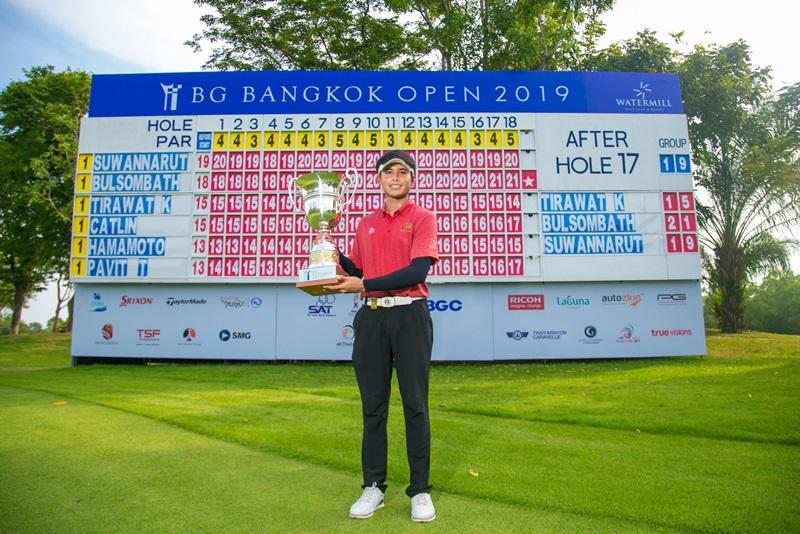 """""""ภานุวัฒน์"""" ซิวแชมป์ออลไทยแลนด์ปิดฤดูกาล """"อิทธิพัทธ์"""" ครองมือหนึ่งทำเงิน 2019"""