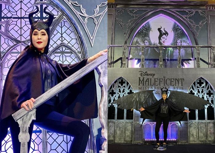 """ทูลกระหม่อม ทรงฉลองพระองค์ชุด """"Maleficent"""" เพื่อเสด็จทอดพระเนตรภาพยนตร์"""