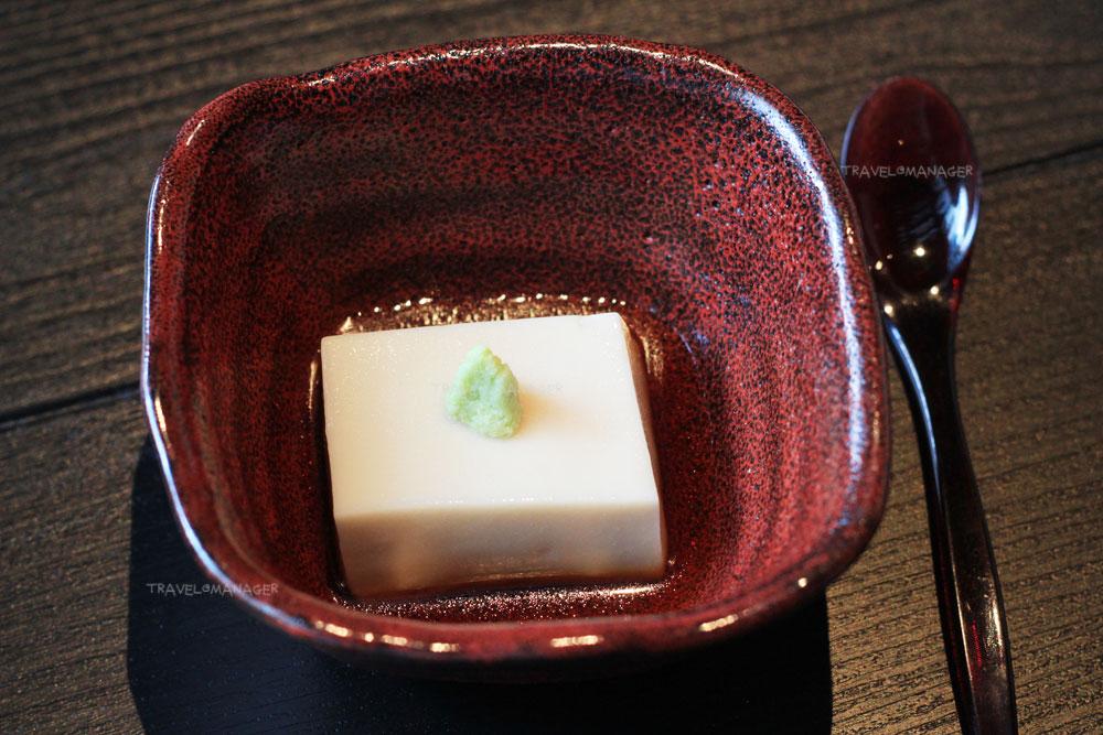 Homemade White Sesame Tofu, Bonito Soy Sauce