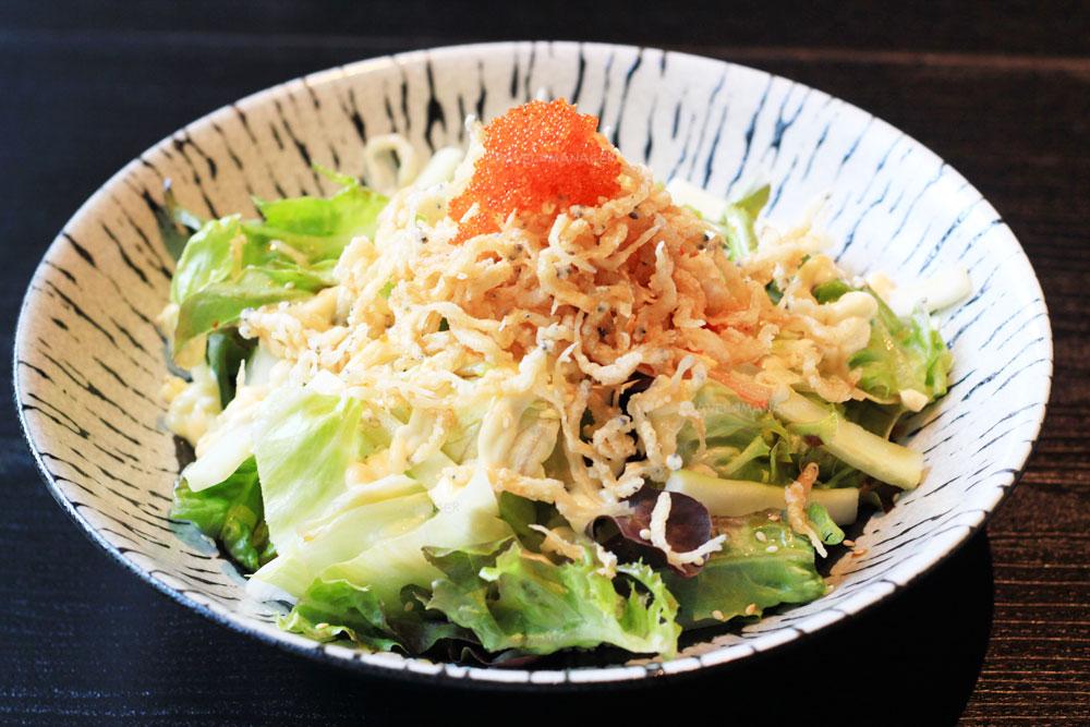 Krispy Shirauo Fish Green Salad with Teriyaki Mayo Sauce
