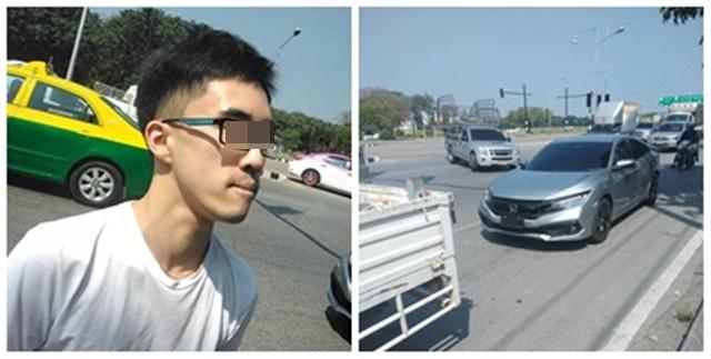 ตี๋หัวร้อนด่ากราดคนไทยชั้นต่ำ หลังขับชนรถกระบะ ทำชาวเน็ตเดือดอยากเจอหน้าสักครั้ง
