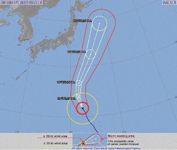 อุตุนิยมแดนปลาดิบเตือนไต้ฝุ่นบัวลอยเคลื่อนตัวเข้าใกล้โตเกียว