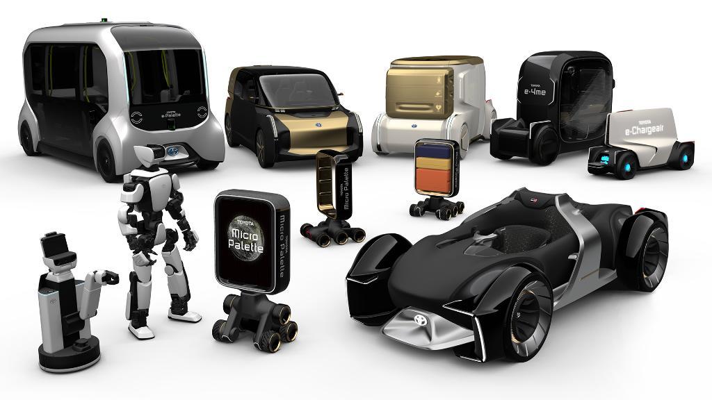 ยานยนต์และหุ่นยนต์ทั้ง 9 แบบ