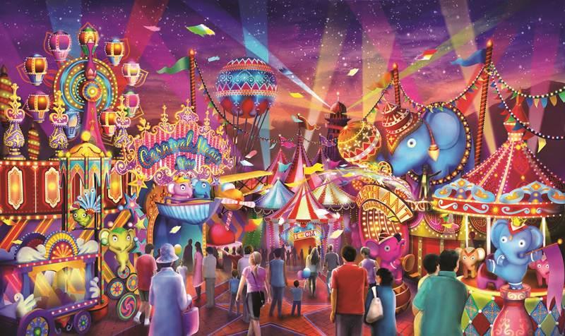 Carnival Fun Fair Shopping Street