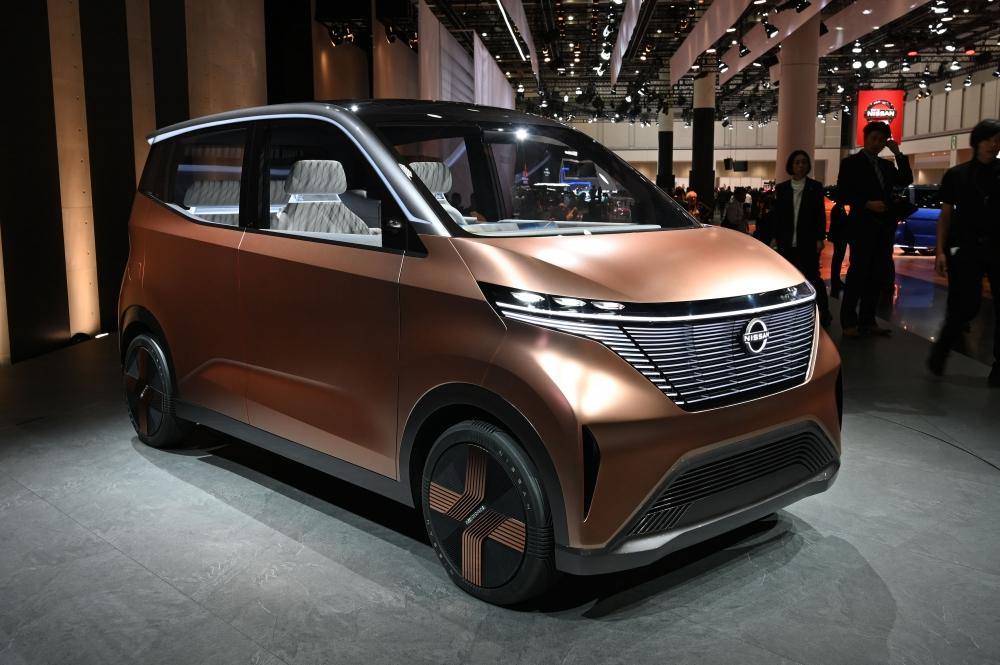 Nissan IMk Concept รถไฟฟ้า ตัวถังทรง Tall Box สไตล์ ญี่ปุ่น