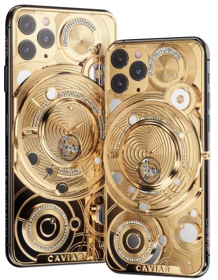 iPhone 11 Pro ราคา 2 ล้านบาท จัดให้นาฬิกาทองคำฝังเพชรด้านหลังเคส