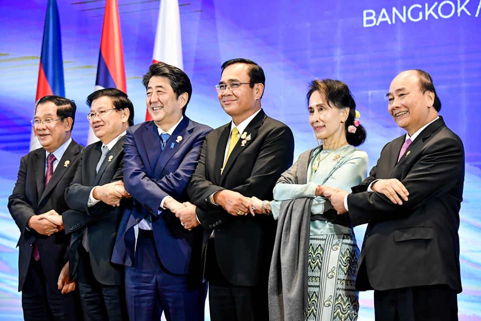 """""""ประยุทธ์"""" ยันไทยพร้อมกระชับความร่วมมือกับมิตรประเทศลุ่มน้ำโขงและญี่ปุ่น"""