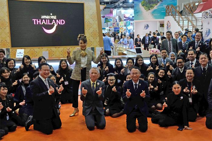 """ทูลกระหม่อมทรงปรุง """"เมี่ยงกลีบบัว"""" งาน WTM2019 ที่ลอนดอน แนะ 5 ข้อ พัฒนาท่องเที่ยวไทยให้ยั่งยืน"""