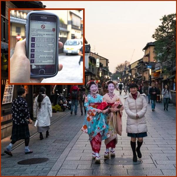 """In Clips :สุดทน! ญี่ปุ่นสั่งห้ามเซลฟี """"เกอิชา"""" ในเกียวโต หลังนักท่องเทียวต่างชาติรุมล้อมวิ่งไล่ขอถ่ายภาพด้วย"""