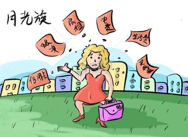 ภาพกราฟฟิกจากสื่อจีน: แสดงคนรุ่นใหม่นักบริโภคที่แบกหนี้บัตรเครดิตหัวโต