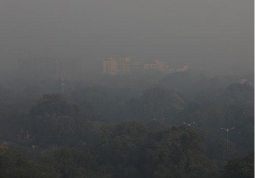 หมอกควันพิษในนิวเดลี ประเทศอินเดีย