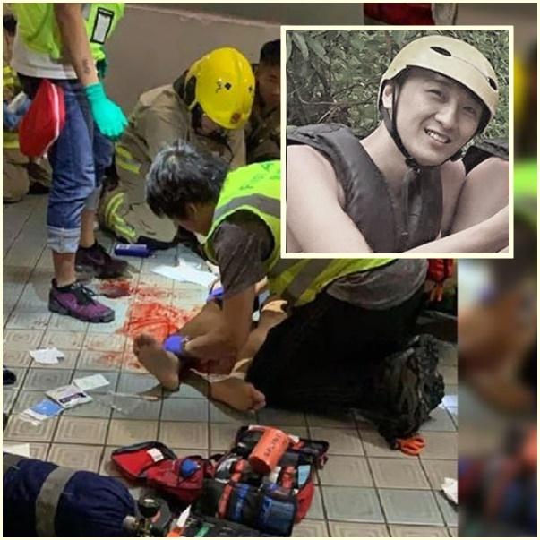 """InPics& Clip: เหยื่อดับรายแรกประท้วงฮ่องกง """"นักศึกษาฮ่องกง"""" วัย 22 หล่นจากลิฟต์ลานจอดรถเสียชีวิตแล้ว"""
