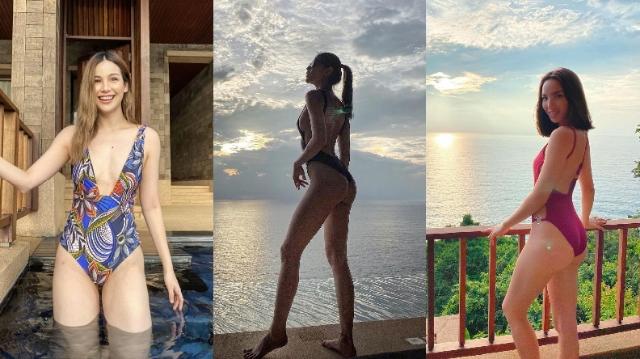 """3 สาวเดอะเฟซ """"ดารัน-ข้าว-เทีย"""" ประชันความเอ็กซ์ในชุดว่ายน้ำแหวกหน้าเว้าก้น"""
