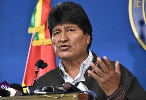 ผู้นำห้าวโบลิเวียจอดป้าย