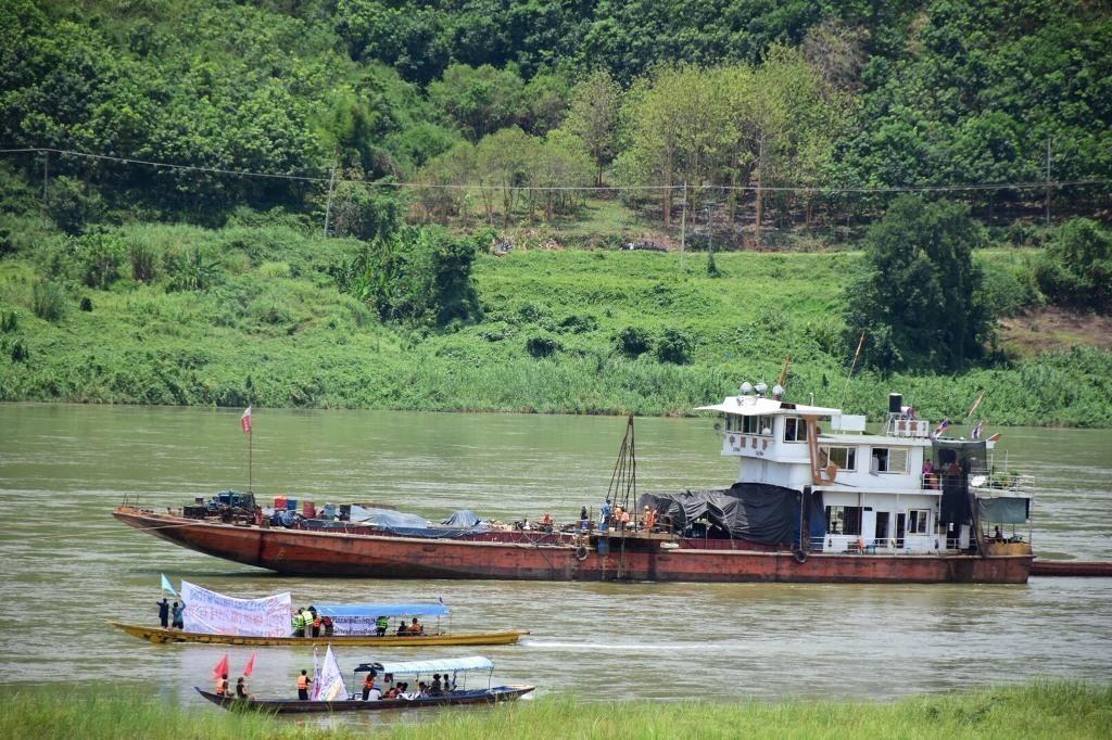 น้ำโขงสวิงครึ่งเมตรตามจีนเปิดปิดเขื่อนจิ่งหงเอื้อเคลียร์ร่องน้ำล้านช้าง-สร้างเขื่อนเพิ่ม