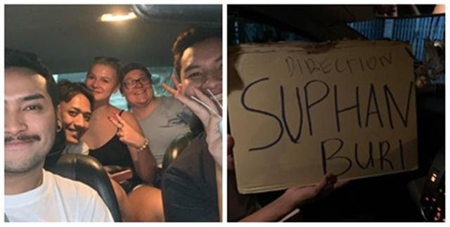 รักคนไทย! 2 นักท่องเที่ยวโชคดี เจอคนไทยมีน้ำใจขับรถไปส่ง จากเมืองกาญฯถึงสุพรรณบุรี