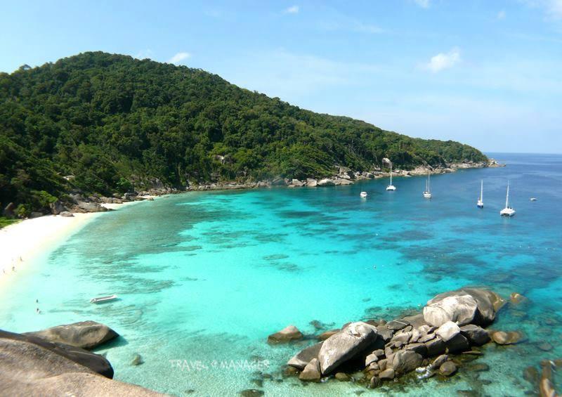 หมู่เกาะสิมิลัน น้ำใส ทะเลสวย หาดทรายยาวขาวเนียน ที่เกาะแปด