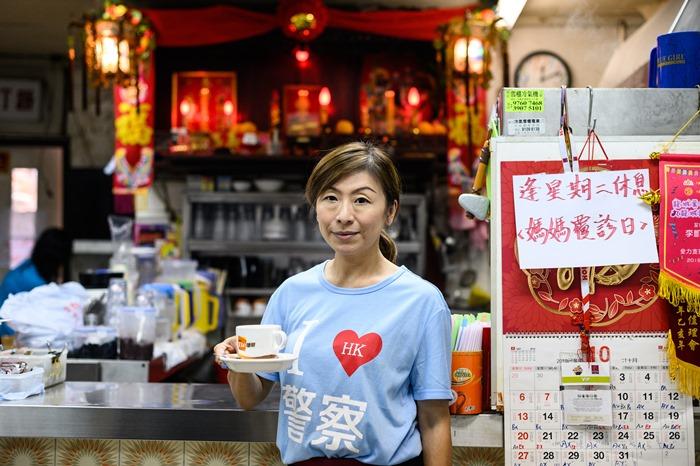 ในร้านอาหารสำหรับ 'พวกโปรปักกิ่ง' ที่ 'ฮ่องกง'