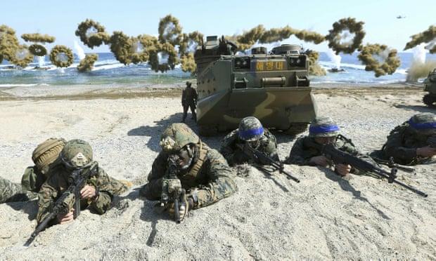 (แฟ้มภาพ) การซ้อมรบร่วมระหว่างเกาหลีใต้กับสหรัฐฯ