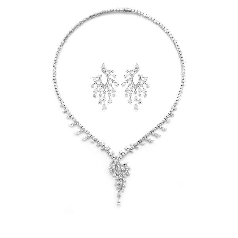 Wedding Necklace+Earrings (JASMIN Fundamental Collection)