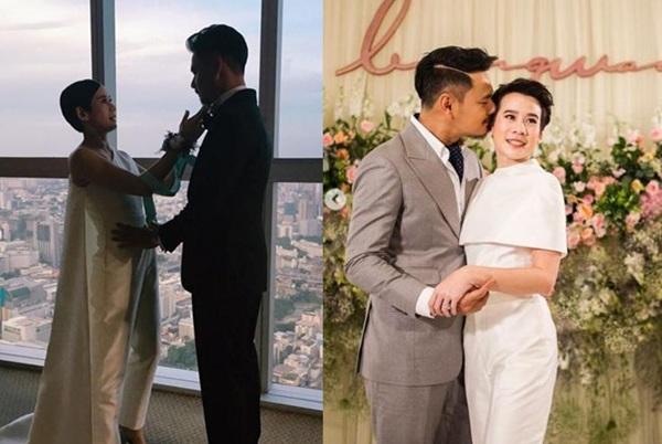 """""""บุ้ง สะธี"""" อวดโมเมนต์หวาน """"เวฟ"""" ฉลองแต่งงานครบรอบ 2 ปี"""