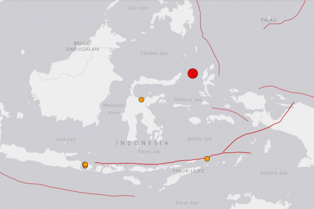 แผ่นดินไหวรุนแรง7.1เขย่าอินโดฯ ประกาศเตือนสึนามิ,ผู้คนแตกตื่นขึ้นที่สูง
