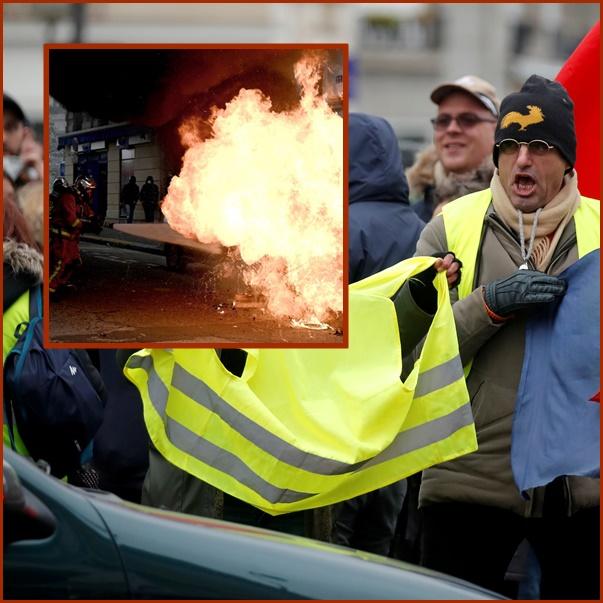 InPics&Clip: ครบรอบ 1 ขวบการต่อสู้เสื้อกั๊กเหลืองฝรั่งเศส ตำรวจยิงแก๊สน้ำตา-กระสุนน้ำเข้าจัดการ