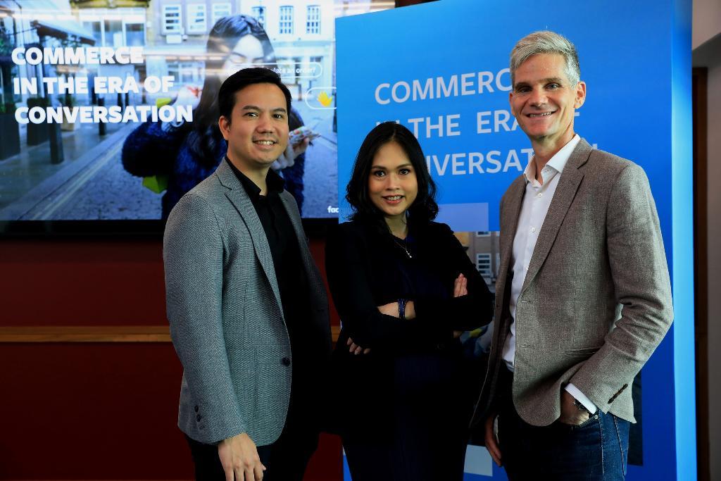 จากซ้ายไปขวา - นายเมธิศร์ มุกดาสิริ พันธมิตรลูกค้าและหัวหน้ากลุ่มธุรกิจค้าปลีกและอีคอมเมิร์ซ Facebook ประเทศไทย นางสาวพิลาสินี กิตติขจร หุ้นส่วนและกรรมการผู้จัดการ บอสตัน คอนซัลติ้ง กรุ๊ป ประเทศไทย และ มร.จอห์น แวกเนอร์ กรรมการผู้จัดการ Facebook ประเทศไทย