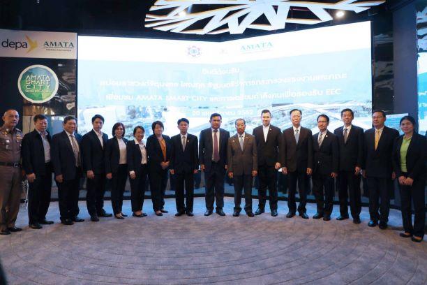 รัฐมนตรีแรงงานลงพื้นที่ชลบุรีศึกษาโครงการอมตะสมาร์ทซิตี้