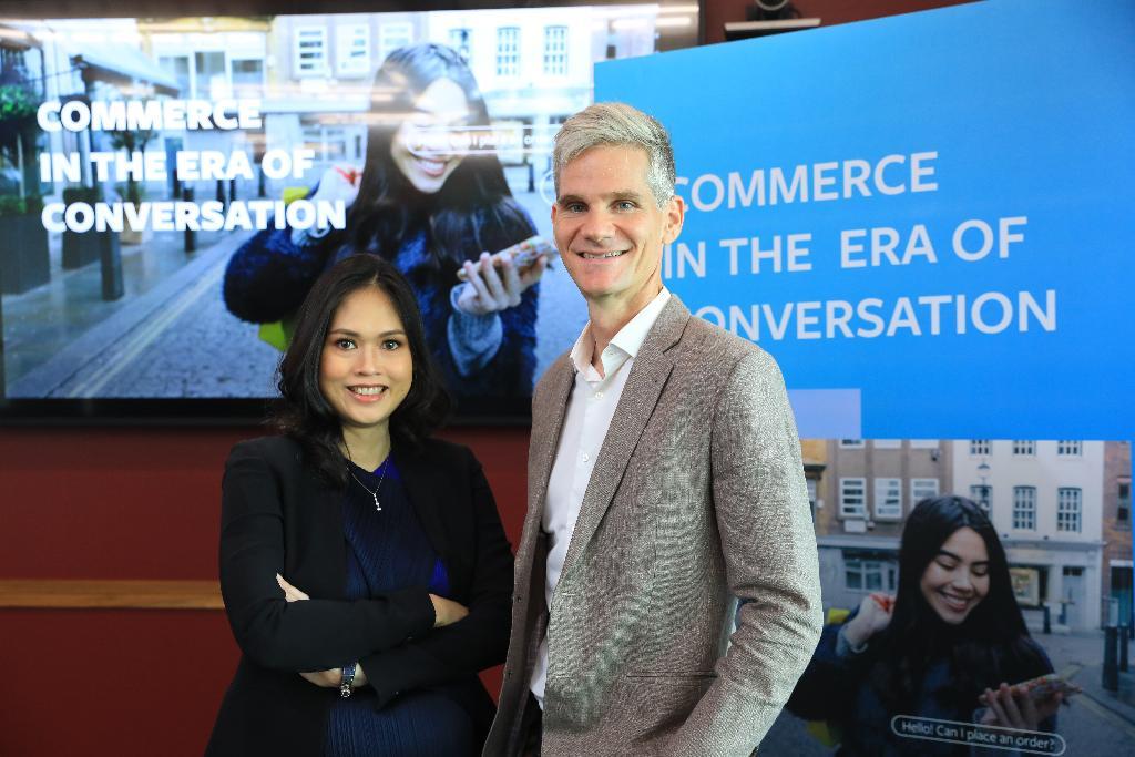 นางสาวพิลาสินี กิตติขจร หุ้นส่วนและกรรมการผู้จัดการ BCG และจอห์น แวกเนอร์ กรรมการผู้จัดการ Facebook ประเทศไทย