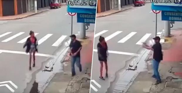 เหี้ยมเกินมนุษย์! ชายบราซิลจ่อยิงหญิงแปลกหน้าเสียชีวิต โมโหขอเงิน 7 บาท (ชมคลิป)