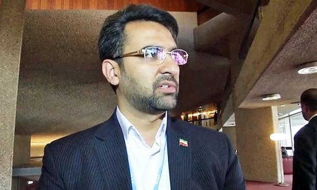 ภาพจากรอยเตอร์ -  โมฮัมหมัด จาวาด อาซารี-จาห์โรมี รัฐมนตรีว่าการกระทรวงเทคโนโลยีสารสนเทศและการสื่อสาร