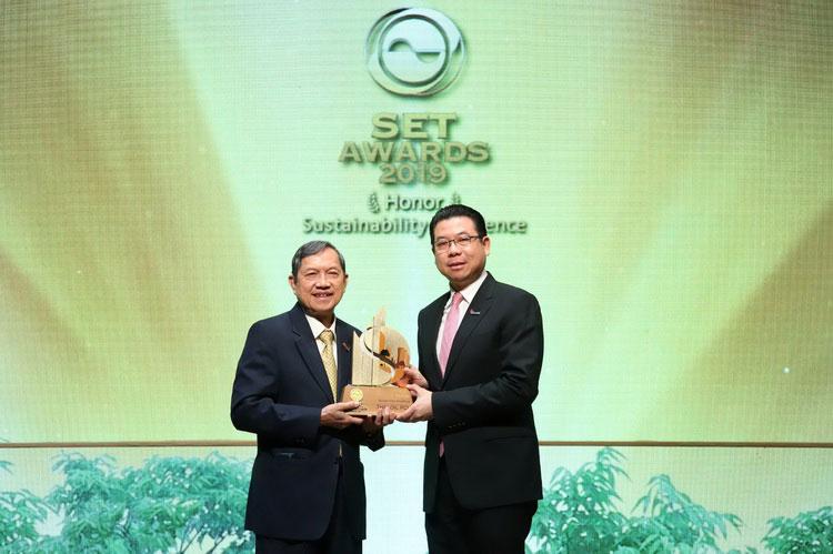 ไทยออยล์คว้ารางวัลเกียรติยศด้านความยั่งยืนจาก SET Sustainability Awards 2019 สามปีซ้อน