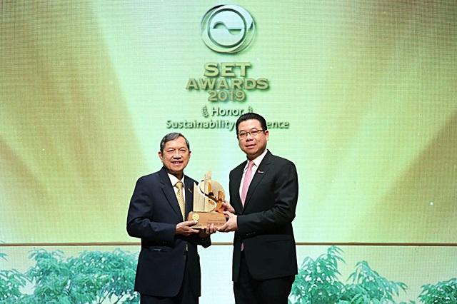 ไทยออยล์ คว้ารางวัลเกียรติยศด้านความยั่งยืนจาก SET Sustainability Awards 2019 สามปีซ้อน