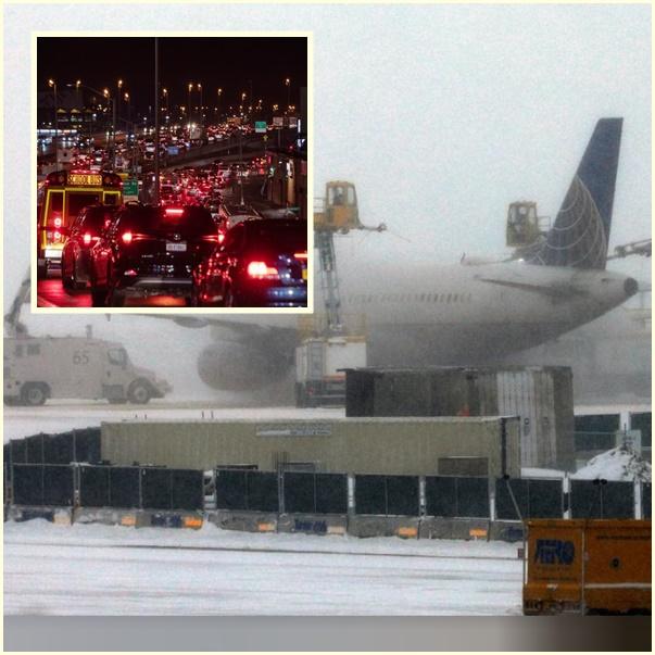 """In Clip: เทศกาลขอบคุณพระเจ้าสหรัฐฯป่วน """"พายุฤดูหนาว 2 ลูก"""" เข้าฝั่งตะวันตก-มิดเวสต์ ทำเอารถ-เครื่องบินติดไปไหนไม่ได้"""