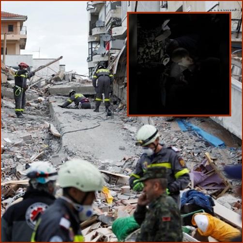 In Pics&Clip: ยอดดับแผ่นดินไหวแอลเบเนียพุ่ง 40 กู้ภัยพยายามสุดชีวิตช่วยฝาแฝดอายุเกือบ 2 ขวบให้รอดชีวิตออกมา