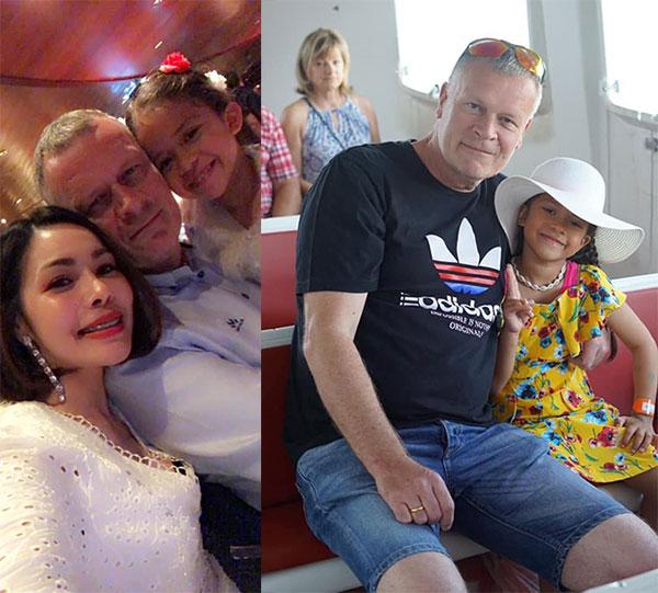 ภาพครอบครัวอบอุ่น สามีและลูกสาว