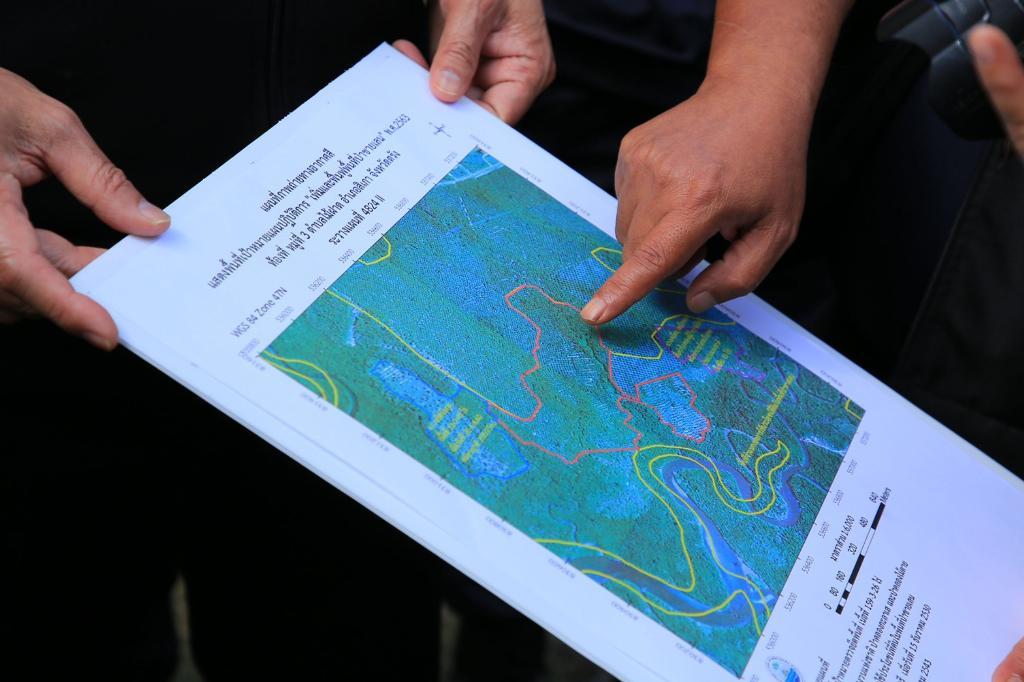 อธิบดีกรมทช.ลุยตรวจยึดสวนปาล์ม-บ่อกุ้งนายทุน รุกป่าชายเลนตรังกว่า 240 ไร่