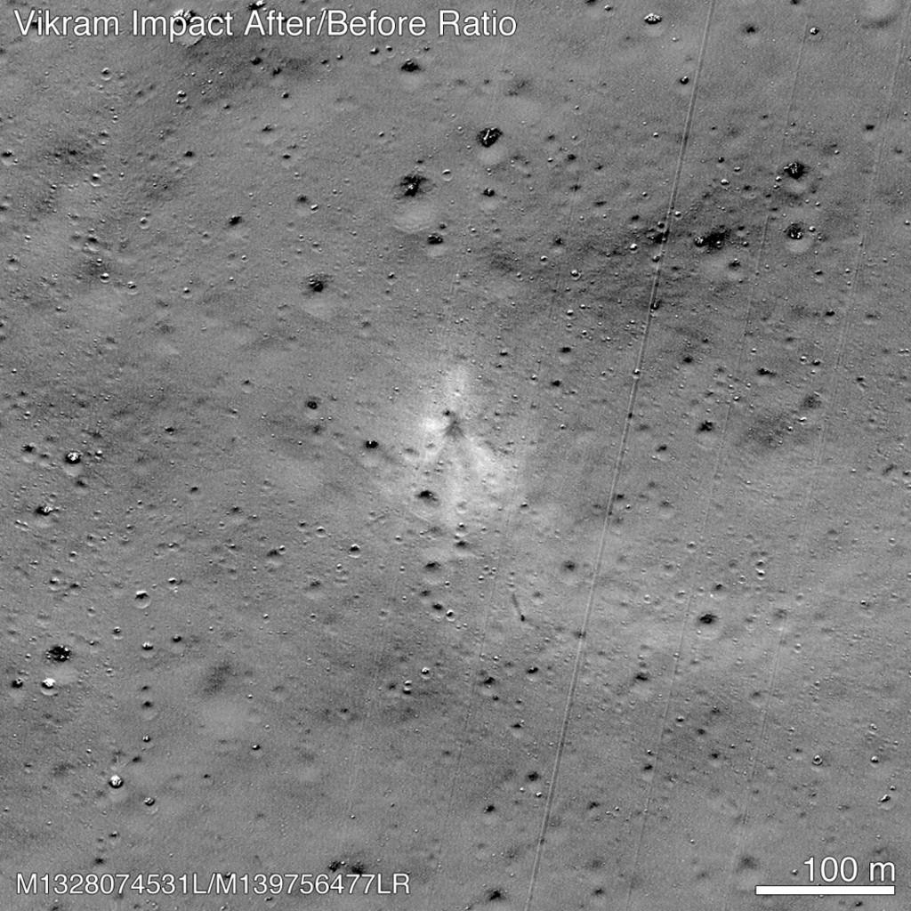 นาซาเผยตำแหน่งที่ยานอินเดียพุ่งชนดวงจันทร์