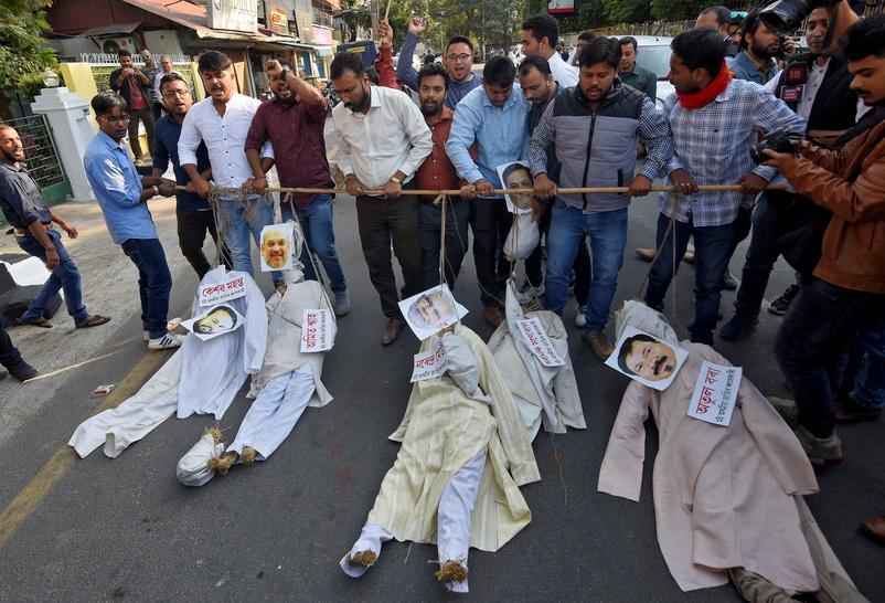 ชาวอินเดียแห่ประท้วงรบ.โมดีดันร่างกฎหมายสัญชาติ 'กีดกันมุสลิม'