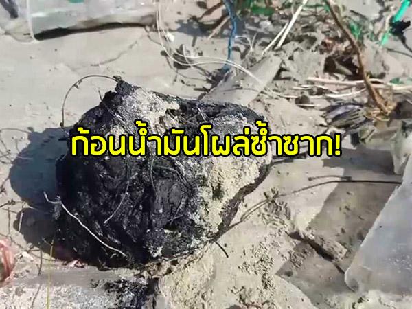 คลื่นกัดเซาะหาดหัวไทรต่อเนื่อง ชาวบ้านกังวลที่ดินถูกซัดหาย ผวาก้อนน้ำมันโผล่ซ้ำซาก