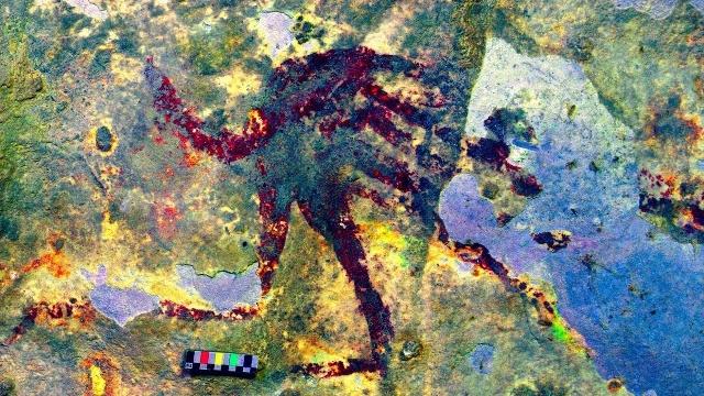 งานวิจัยเผย! ศิลปะเก่าแก่ที่สุดในโลกถูกพบในถ้ำอินโดนีเซีย