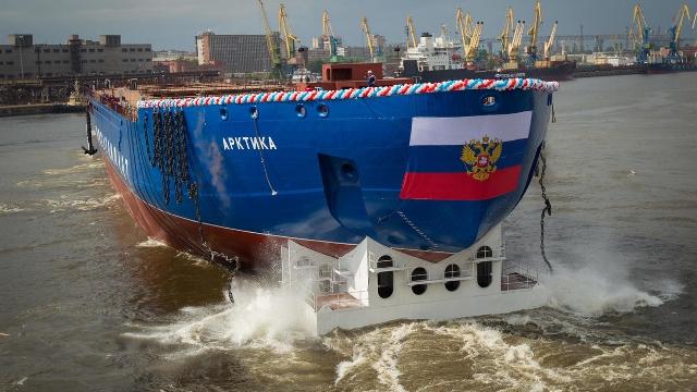 เรือตัดน้ำแข็งพลังงานนิวเคลียร์รัสเซียทดสอบแล่นครั้งแรกลุล่วง