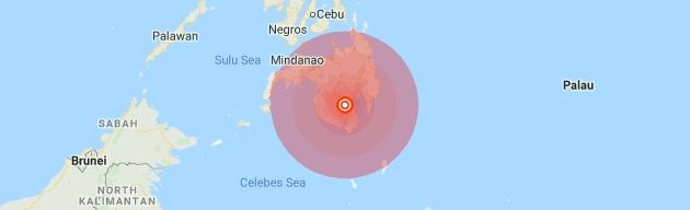 แผ่นดินไหวรุนแรงเขย่าภาคใต้ฟิลิปปินส์  มีรายงานว่าสร้างความเสียหาย
