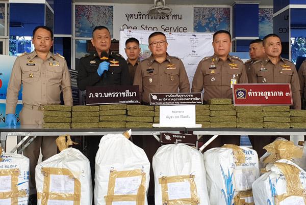 ตำรวจเมืองโคราชสกัดจับกัญชาล็อตใหญ่ หวังสต็อกขายฉลองเทศกาลปีใหม่