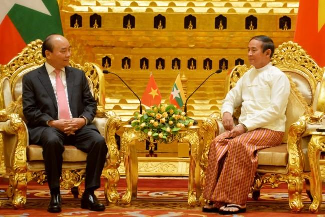 ผู้นำเวียดนามเยือนพม่าหารือ 'ปธน.-ซูจี' ขยายความร่วมมือทวิภาคีรอบด้าน