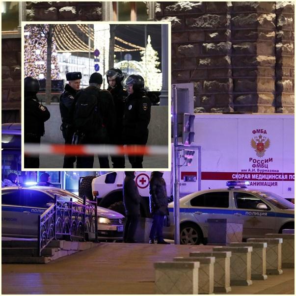 """InPics&Clip: เสียชีวิต 1 หลัง """"มือปืนไรเฟิล"""" บุกยิงสำนักงานข่าวกรองรัสเซีย FSB ในกรุงมอสโก"""