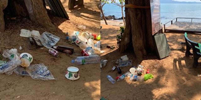 วอนปลุกจิตสำนึก พบนักท่องเที่ยวทิ้งขยะเต็มพื้นอุทยานแห่งชาติเขาแหลมหญ้า