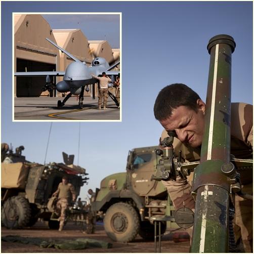 "In Clip: กองทัพฝรั่งเศสใช้ ""โดรน"" จู่โจมเป็นครั้งแรกในปฎิบัติการที่มาลี สังหารผู้ก่อการร้ายเสียชีวิต 40 ราย"